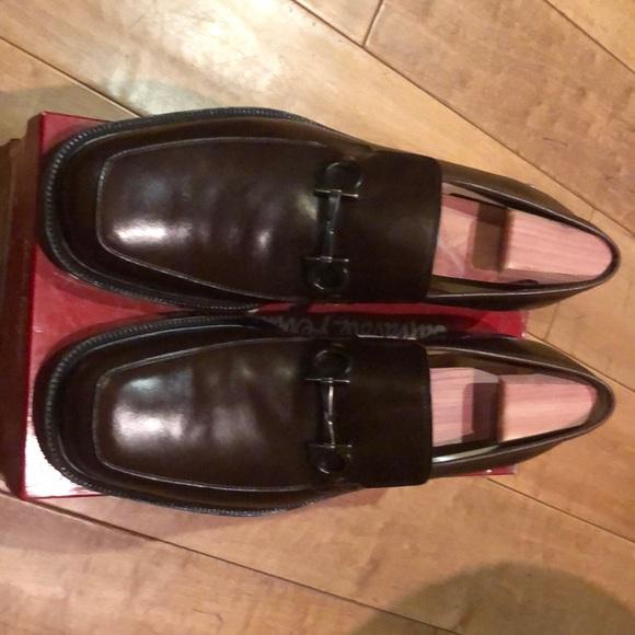 Salvatore Ferragamo Men's Brown Italian Loafers.